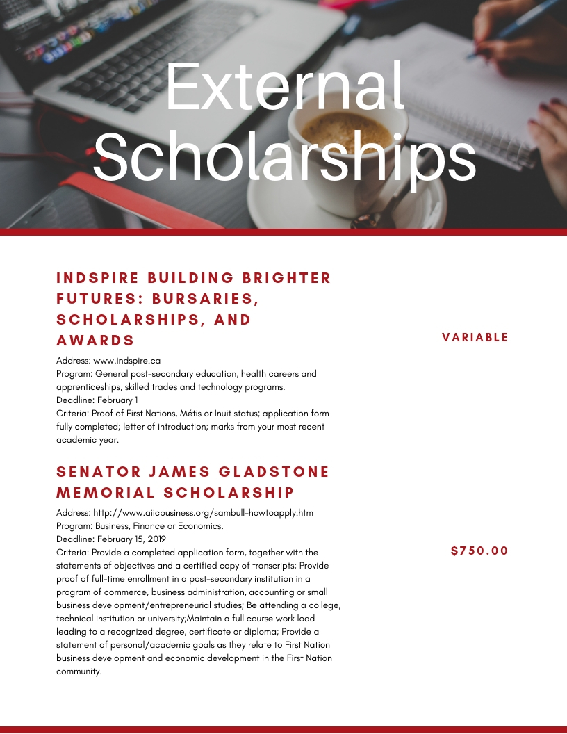 SCHOLARSHIPS | Maskwacis Cultural College